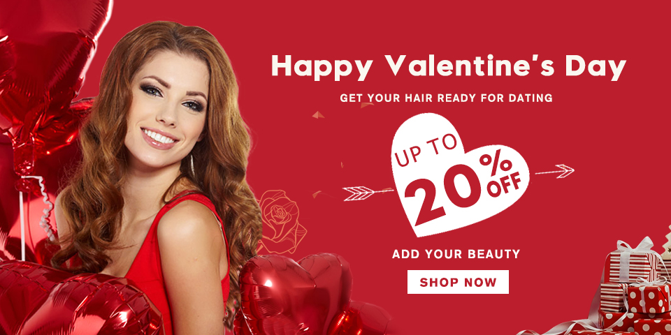 2018 Happy Valentine's Day Hair Extensions Sale