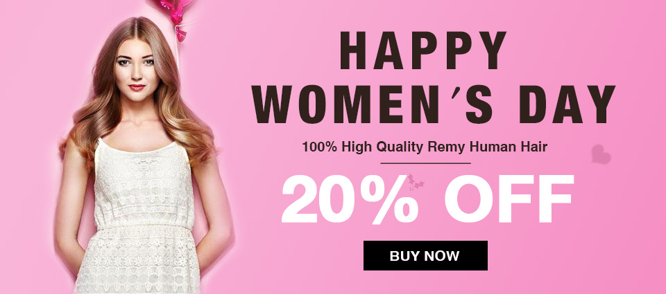 2018 Happy Women's Day Hair Extensions Sale