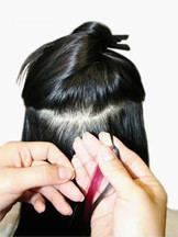 How to Apply Micro Loop Hair Extensions,Step Three