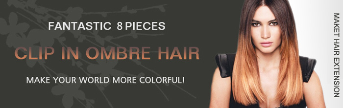 Indian Remy Hair Ombre Hair Extensions